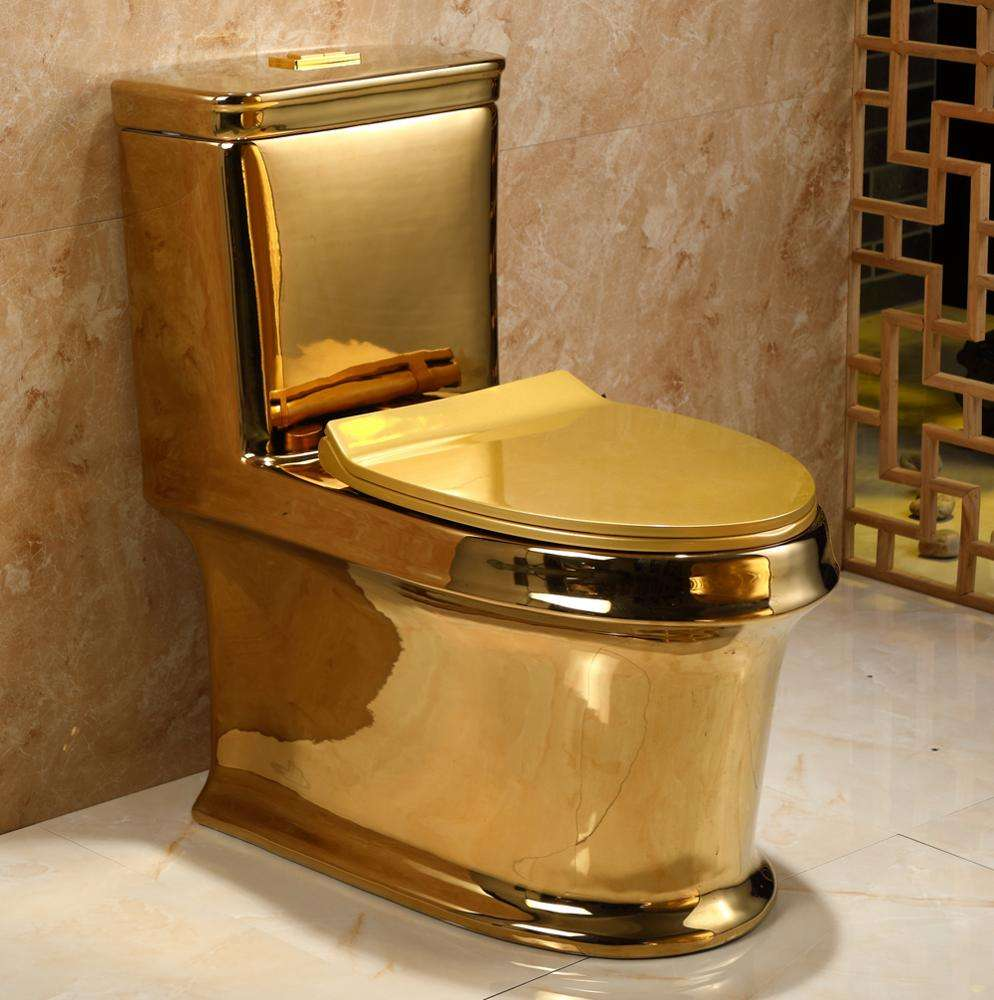 China Chaozhou Factory Direct Price washdown Siphonic Wc Ceramic One Piece two pieces Color Gold Toilet For Sale