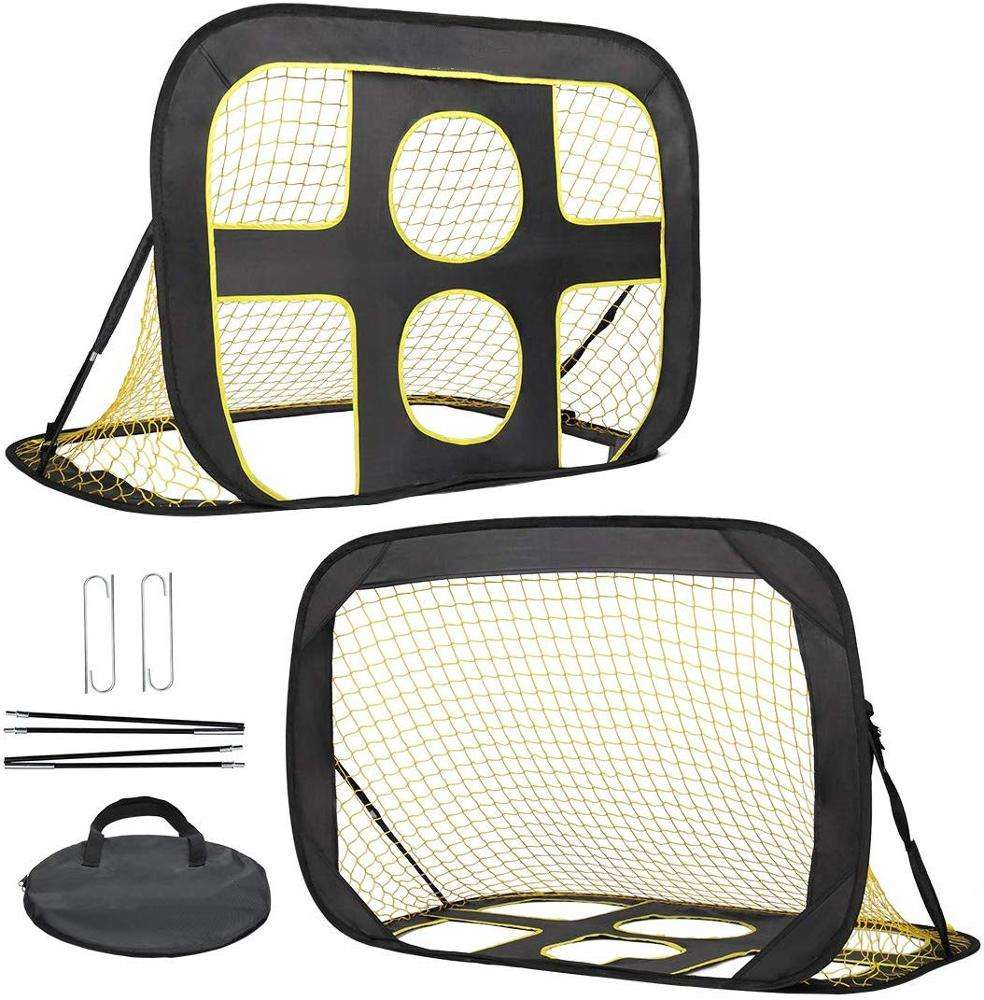 Pop Up Kids Soccer Goal Indoor Outdoor Soccer Target Net Portable soccer net with Carrying