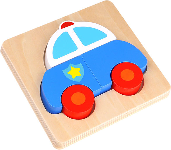 Classical Wooden Educational Toy for Kids 12M+ Mini Wooden Transportation Block Puzzle
