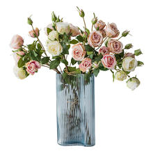 High quality plastic artificial rose wholesale flowers for wedding decor