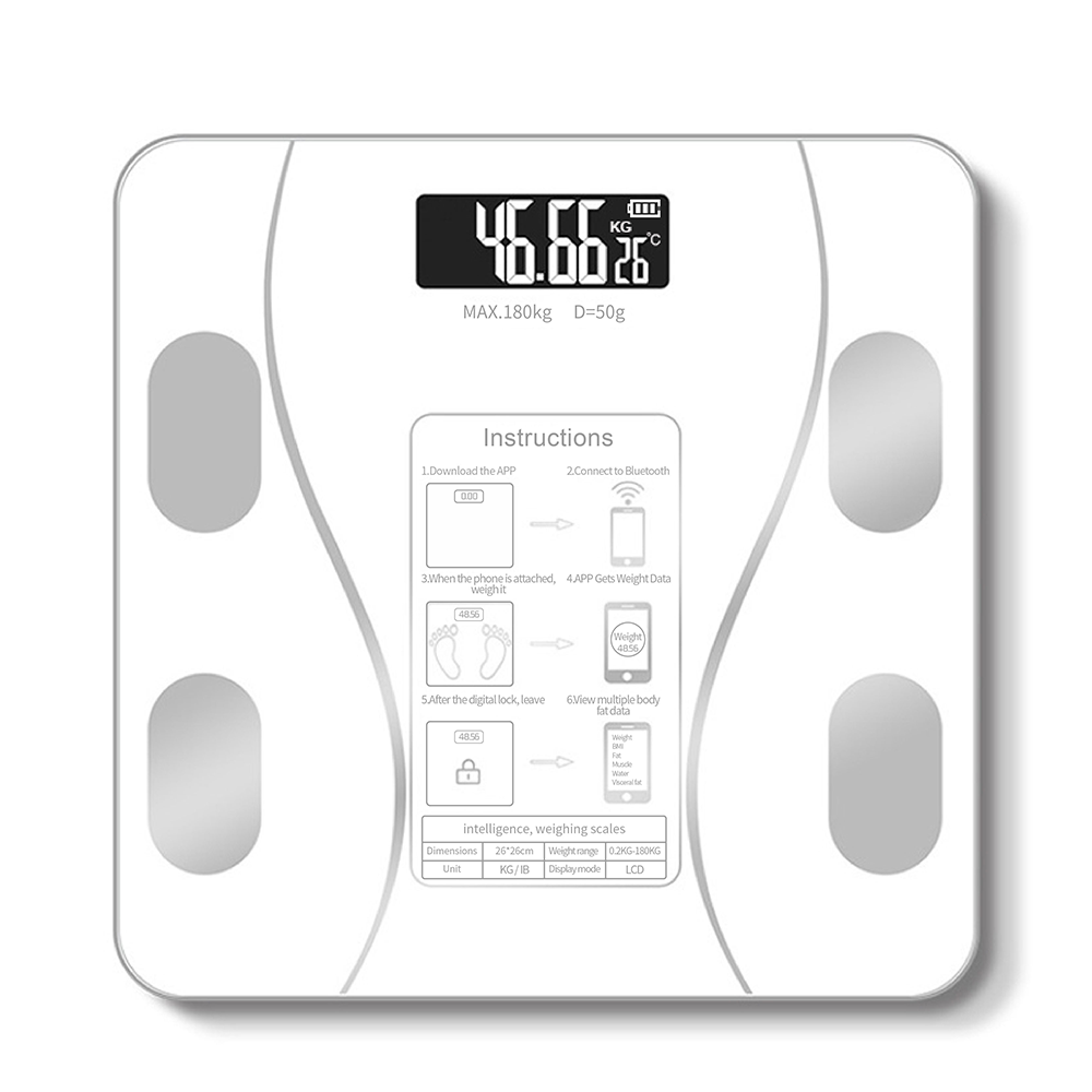 Amazon Hot Sale Household Smart Bluetooth Body Fat Scale Floor Scientific Smart Electronic Intelligent Digital Weight Scale