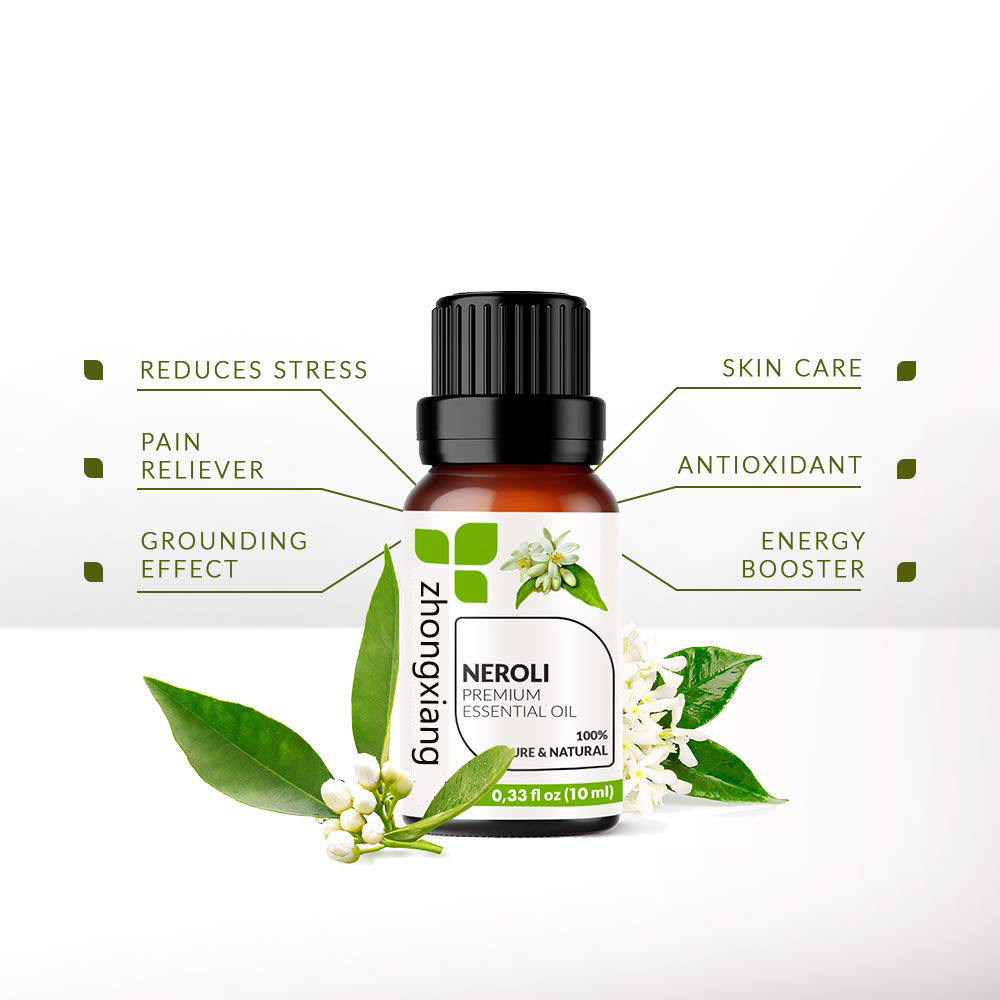 Wholesale bulk price therapeutic grade private label 100% pure natural organic egypt neroli essential oil
