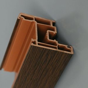 CE Wood UPVC Profile Small Size PVC Frame Reinforce Plastic Profiles For Windows And Doors