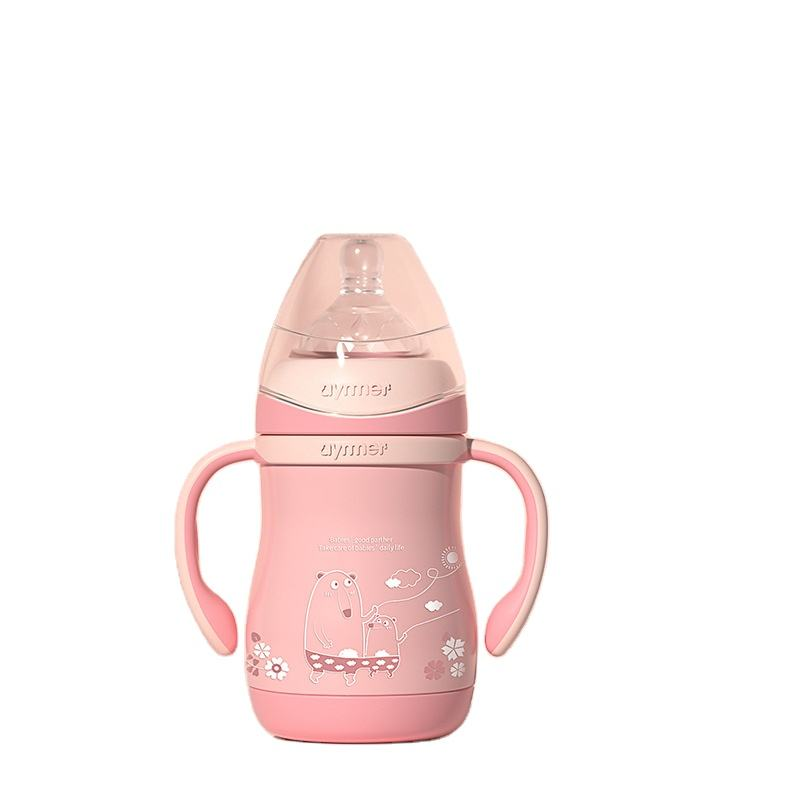 For 0-12 Month Infant With Sleeve Logo Customization infant Stainless Steel Baby Feeding Bottle/