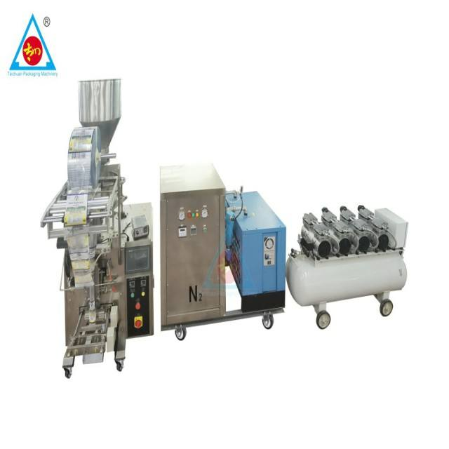 Nitrogen generator for potato chips / peanuts /dry vegetable popcorn Packaging Machine