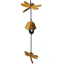 Garden decorative Iron casting japanese brass wind chime bell