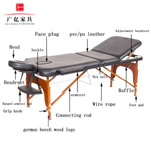 Guangyi Portable massage table massage table wood massage table