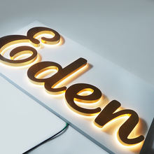 Custom Stainless steel Led back lit 3d channel letter for shop front Signs