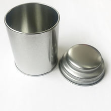 hight quality empty custom logo food grade round tea tin boxes cans
