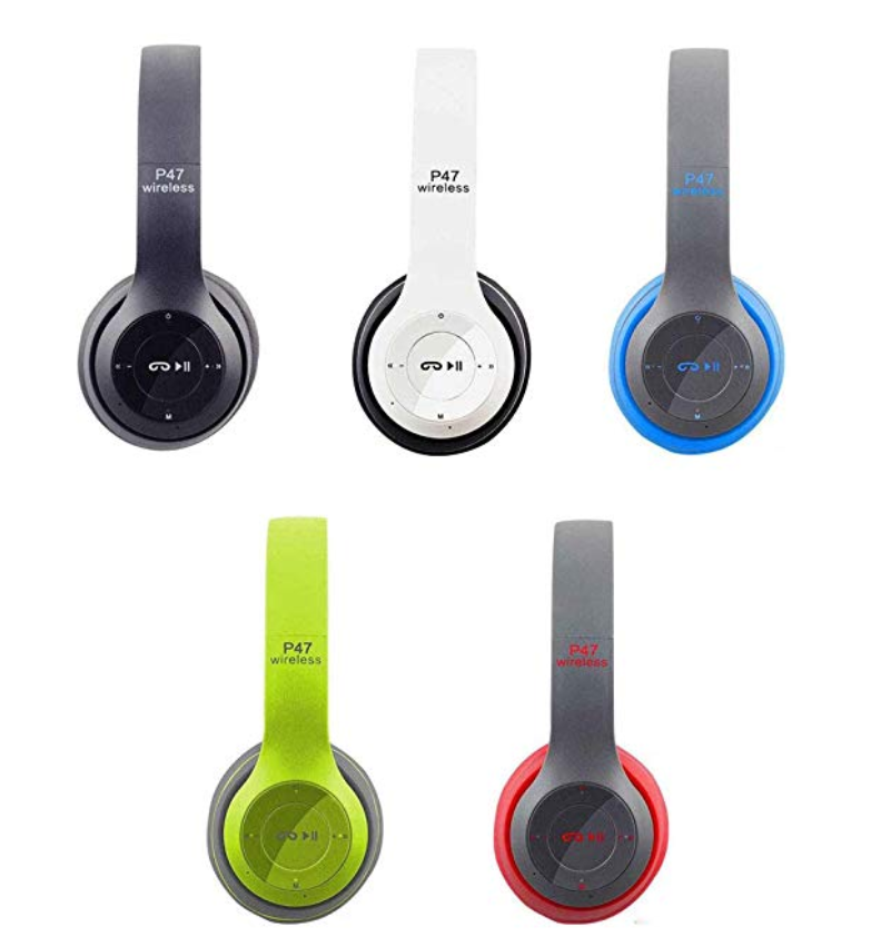 wireless headphone P47 bluetooth earphone with memory card Hands Free With Microphone