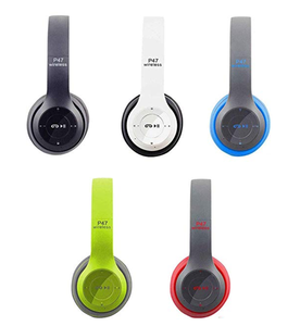 Wireless Headphone P47 Bluetooth Earphone dengan Kartu Memori Tangan Gratis dengan Mikrofon