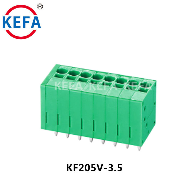 KF205V-3.5 PCB Spring Green 3.5mm Terminal Block High Quality Connector