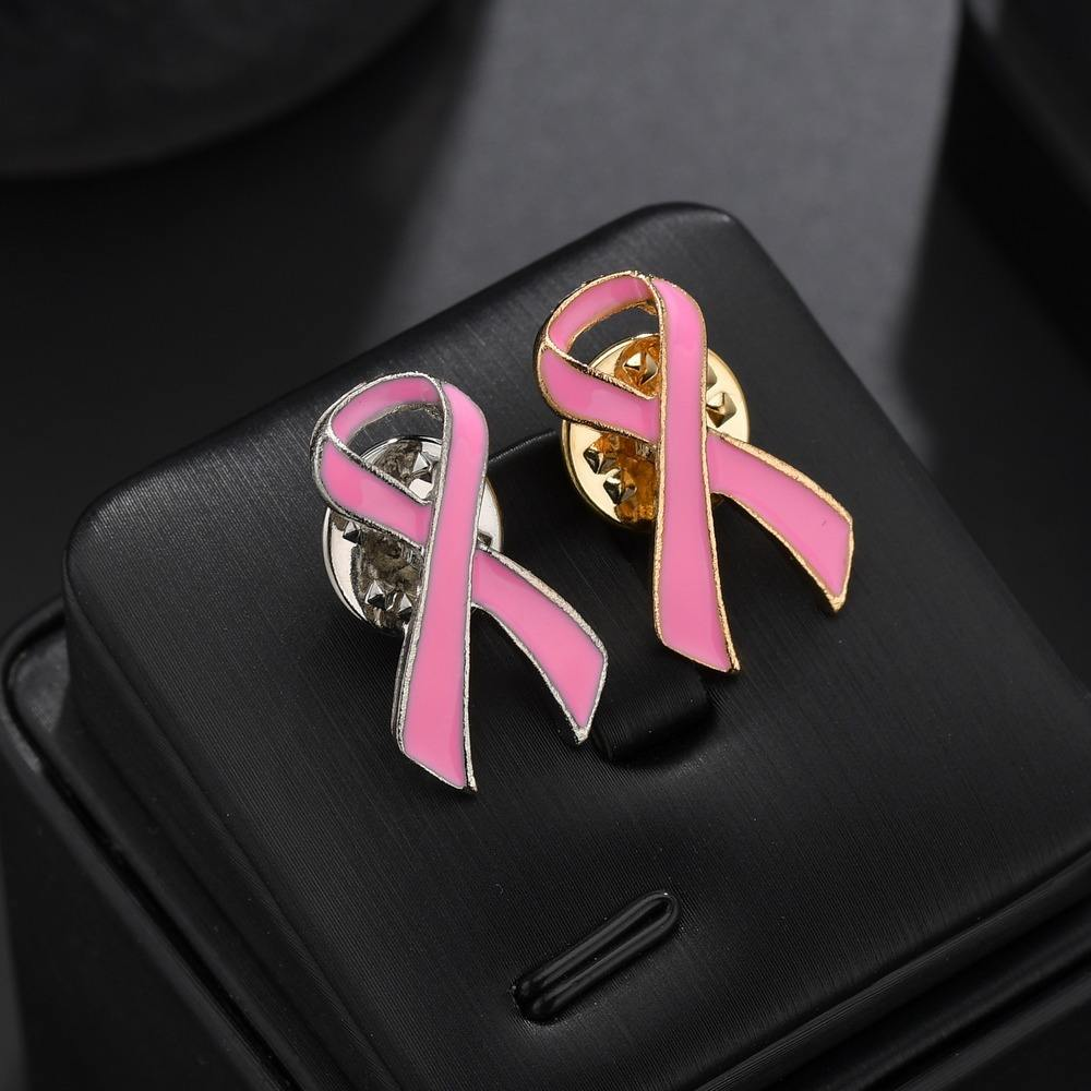 Breast Cancer Brooches Pins Wholesale Autism Awareness Puzzle Brooches Pins Breast Cancer Pink Ribbon Brooch Pin
