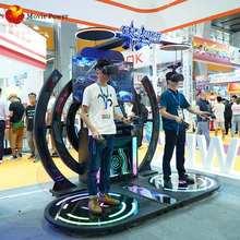 Arcade game center video game VR dancing game in shopping mall 9d vr simulator
