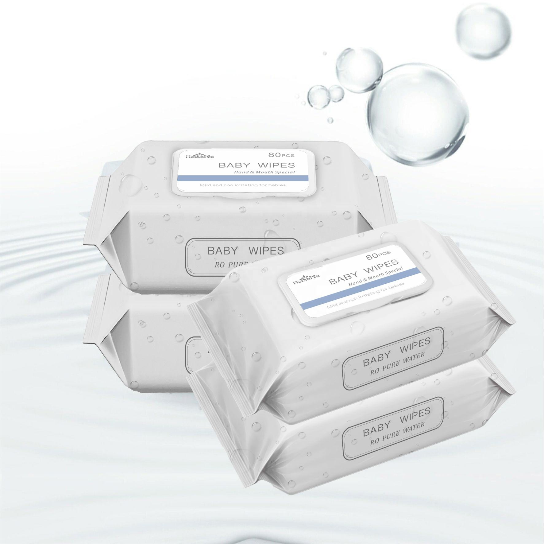 RO pure water baby wet wipes for hand and mouth special