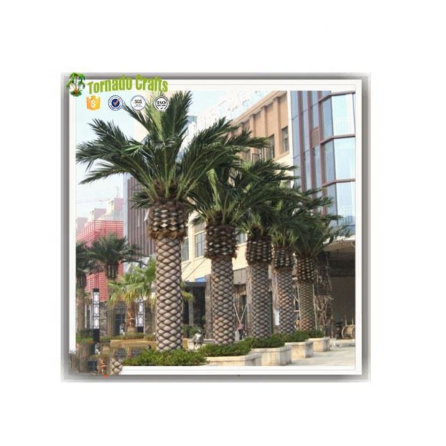 Guangzhou factory high quality data palm fronds artificial decorative fan palm tree with leaves