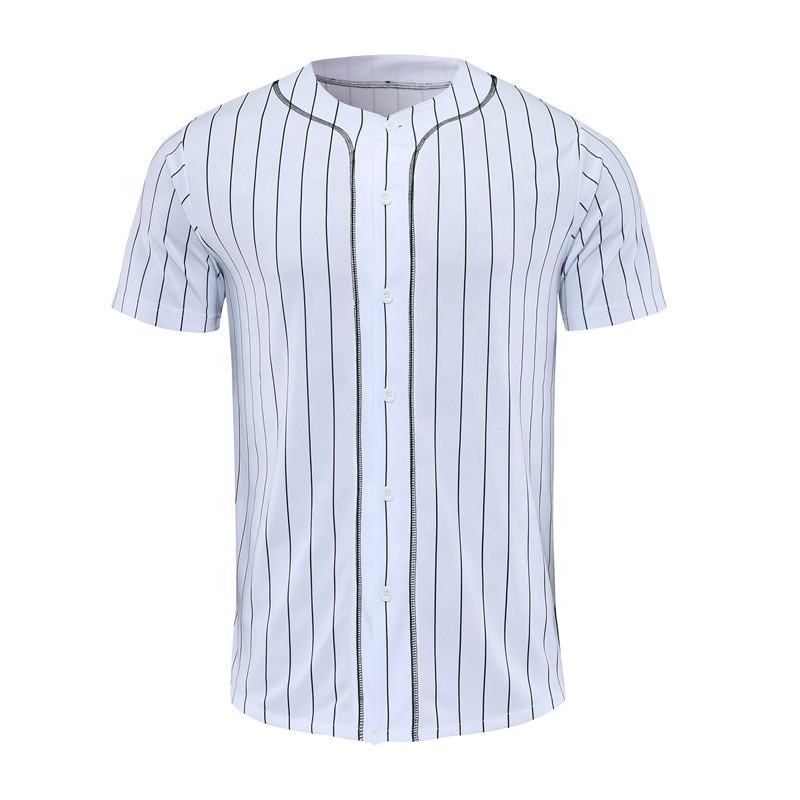 New Design Custom Baseball Jersey Men Stripe Street Hiphop Baseball Tops Shirts