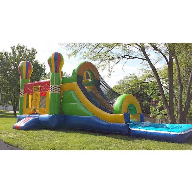 Inflatable balloon bouncer combo slide inflatable water slide bouncers with slide