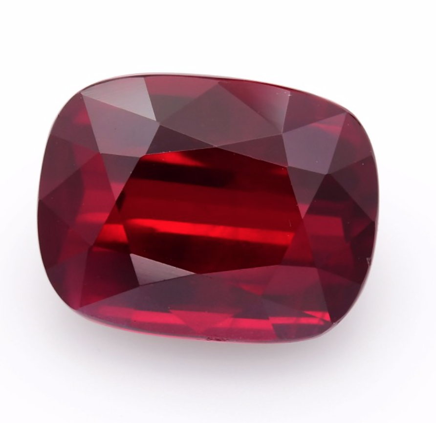 6.00Carat Pigeon Blood Red MOZAMBIQUE Ruby Cushion Shape GRS Certified Loose Gemstone Ruby Stone By Real Gems Free Ship Precious