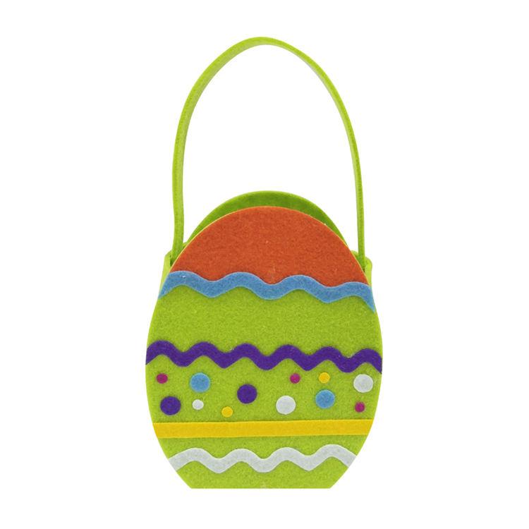 مصنع الهدايا ورأى تخزين النسيج الاطفال على شكل سلال عيد الفصح البيض حقيبة