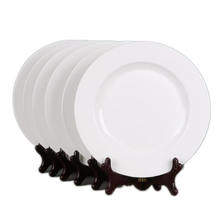 Ultra Thick Porcelain Plates White Ceramic Dishes for Hotel restaurant