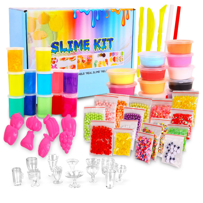 Educational Activator Crystal Clear Cream Set Slime Kit Putty Making Kit Kids DIY Charms Toys Slime Kit for Kids