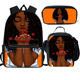 2020 Back To School Backpack Kids Bag African American Black Art Girls Schoolbag Mochila 3Pcs/set School Bags for Girls