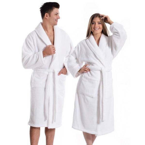 Unisex Terry Cloth Bathrobe 100% Long Staple Cotton Hotel/Spa Robes Classic Bath Robes For Men or Women
