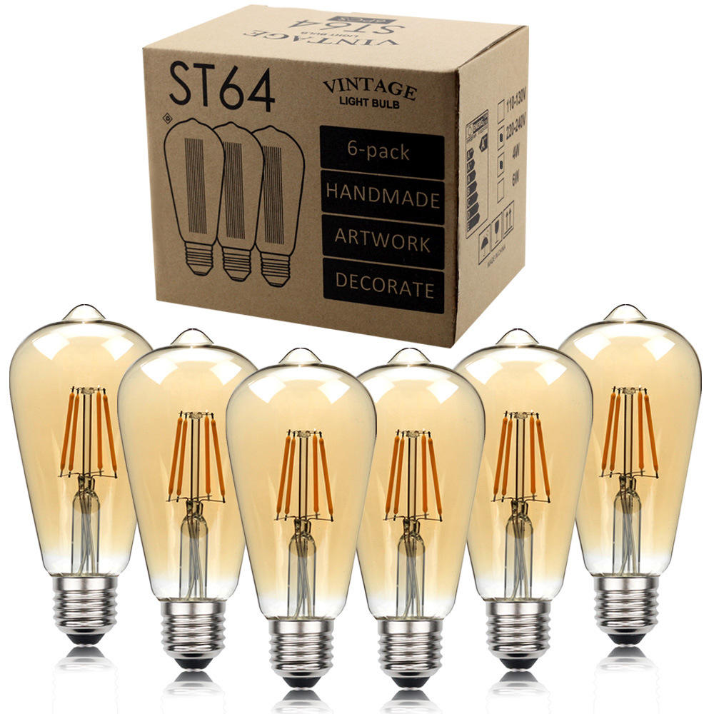 Grensoverschrijdende Amazon <span class=keywords><strong>Lamp</strong></span> <span class=keywords><strong>Antieke</strong></span> <span class=keywords><strong>Lamp</strong></span> ST64 Led Filament <span class=keywords><strong>Lamp</strong></span> 220V 110V Decoratieve <span class=keywords><strong>Lamp</strong></span> Retro <span class=keywords><strong>Lamp</strong></span>