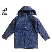 Waterproof coating rain cloth navy parka