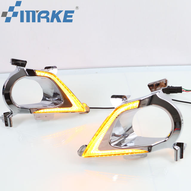 Smrke led drl daytime running light for Toyota innova 2016 2017 fog lamp drl daylight