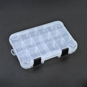 Fishing Box With Adjustable Dividers Outdoor Fishing Tackle Lure Box