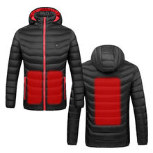 mens safety rechargeable battery infrared intelligent heated winter warm coat