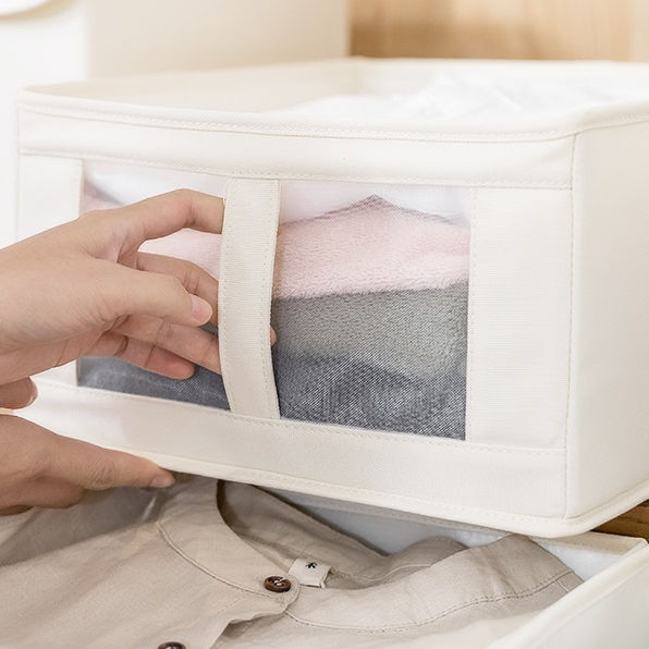 Clothes and shoes storage box Dust proof and moisture proof storage box