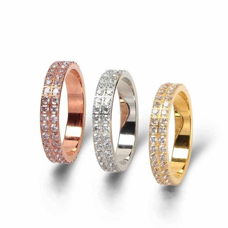 Factory Direct Sale Latest Gold Women Wedding Gemstone Ring Beautiful Cheapest Tat Ring