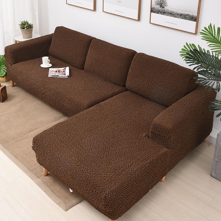 Protector impermeable tramo de Spandex en forma de L sofá cubierta de 7 plazas seccional sofá de la esquina de la cubierta