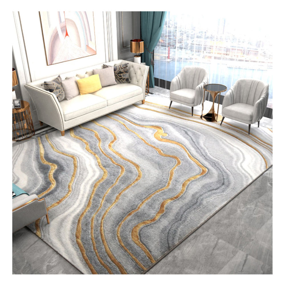 Cynthia Machine Made Grey And Beige Geometric Stripe Scandinavian Rug For Beach Homes