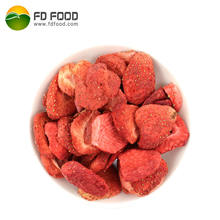 LUJIA FDFOOD US$35 per carton shipping cost to Malaysia whole or 5-7mm/slice with sugar fruit snacks freeze dried strawberry