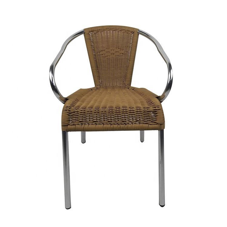 Hot Selling High Quality French Bistro Dining Yellow Chinese Wicker Restaurant Garden Pear Shape Outdoor Rattan Swing Chair