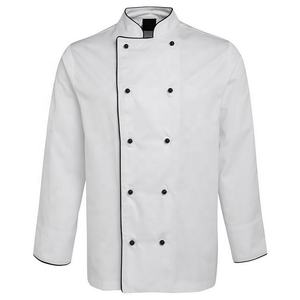 White Polyester / Cotton Double Breasted French Italian Sushi Japanese Chef Uniform
