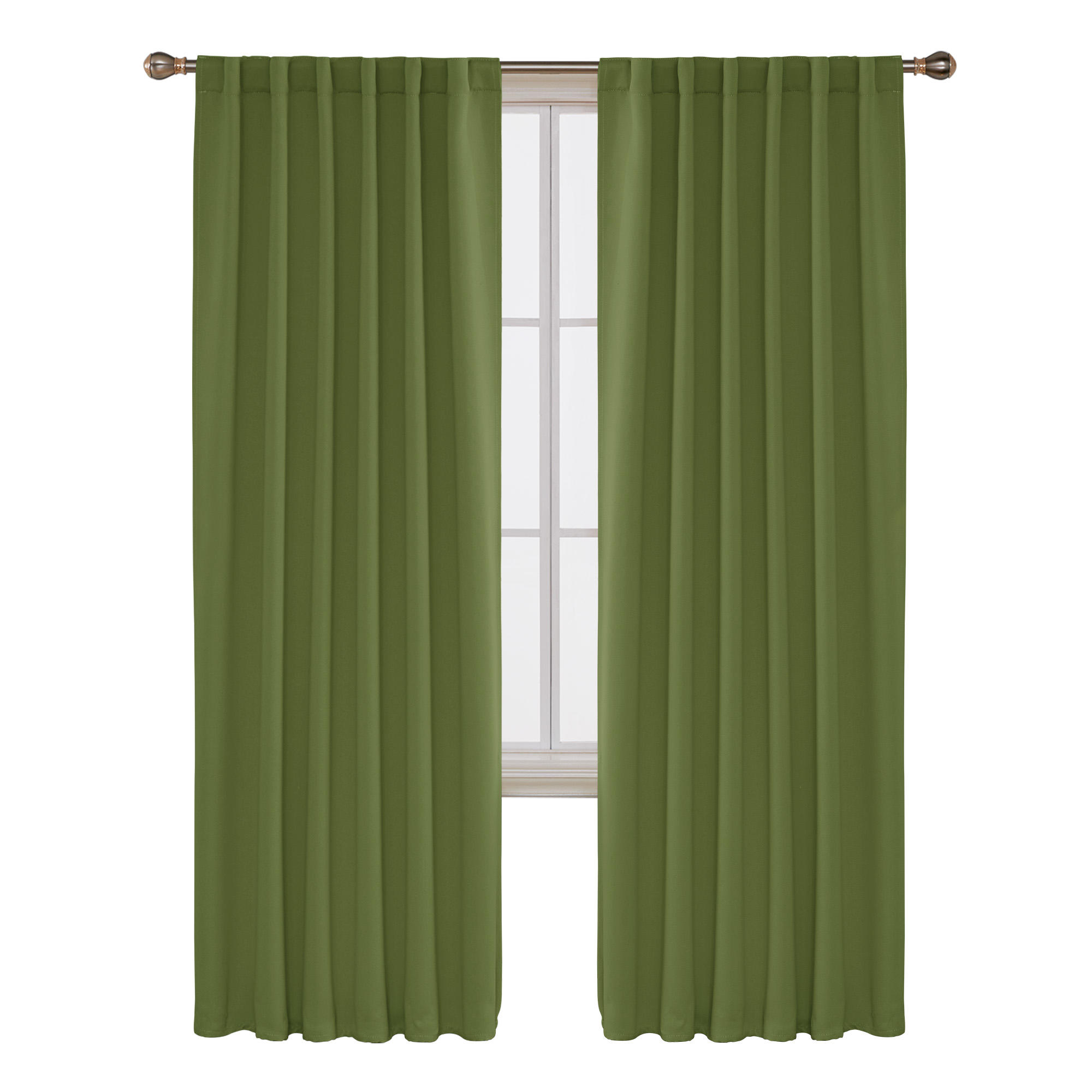 Luxury Classic Green Darkening Drapes Fabric Curtains for the Living Room Hotel Used Curtains