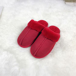 wholesale best price solid color 100% handmade wool slippers