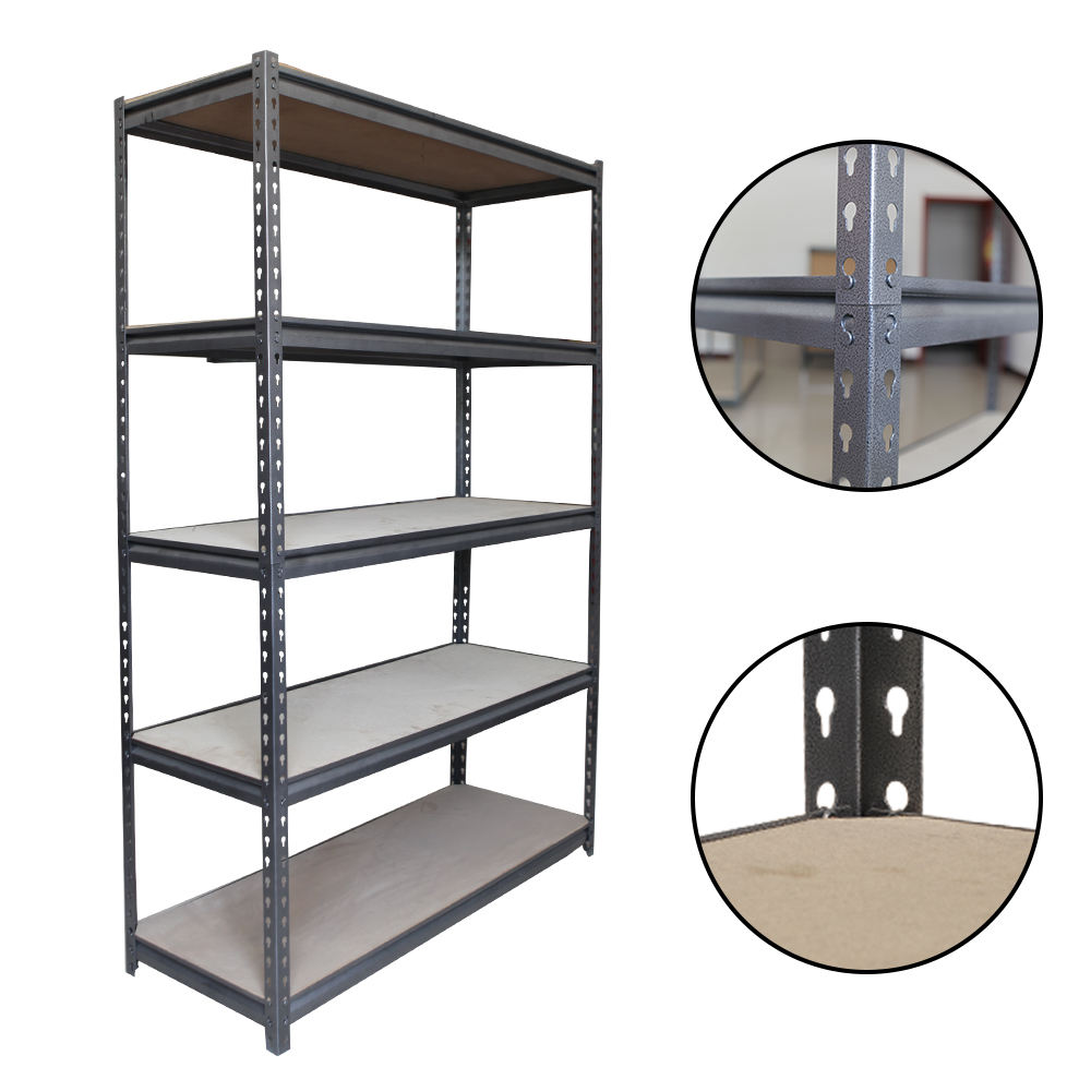 Customized Warehouse steel metal rack slotted angle shelves