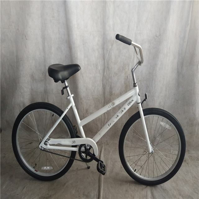 Stalen Frame Zonder Spatbord Single Speed Soft Lady Beach Cruiser Fiets