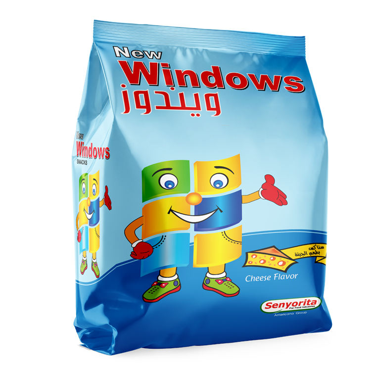 Hot Sale New Brand Windows Cheese Flavor Corn Puffs Snacks