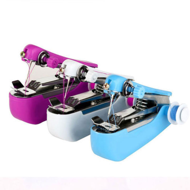 Zogift Household mini cute operated portable machine stitch handy sewing machine with thread for clothes