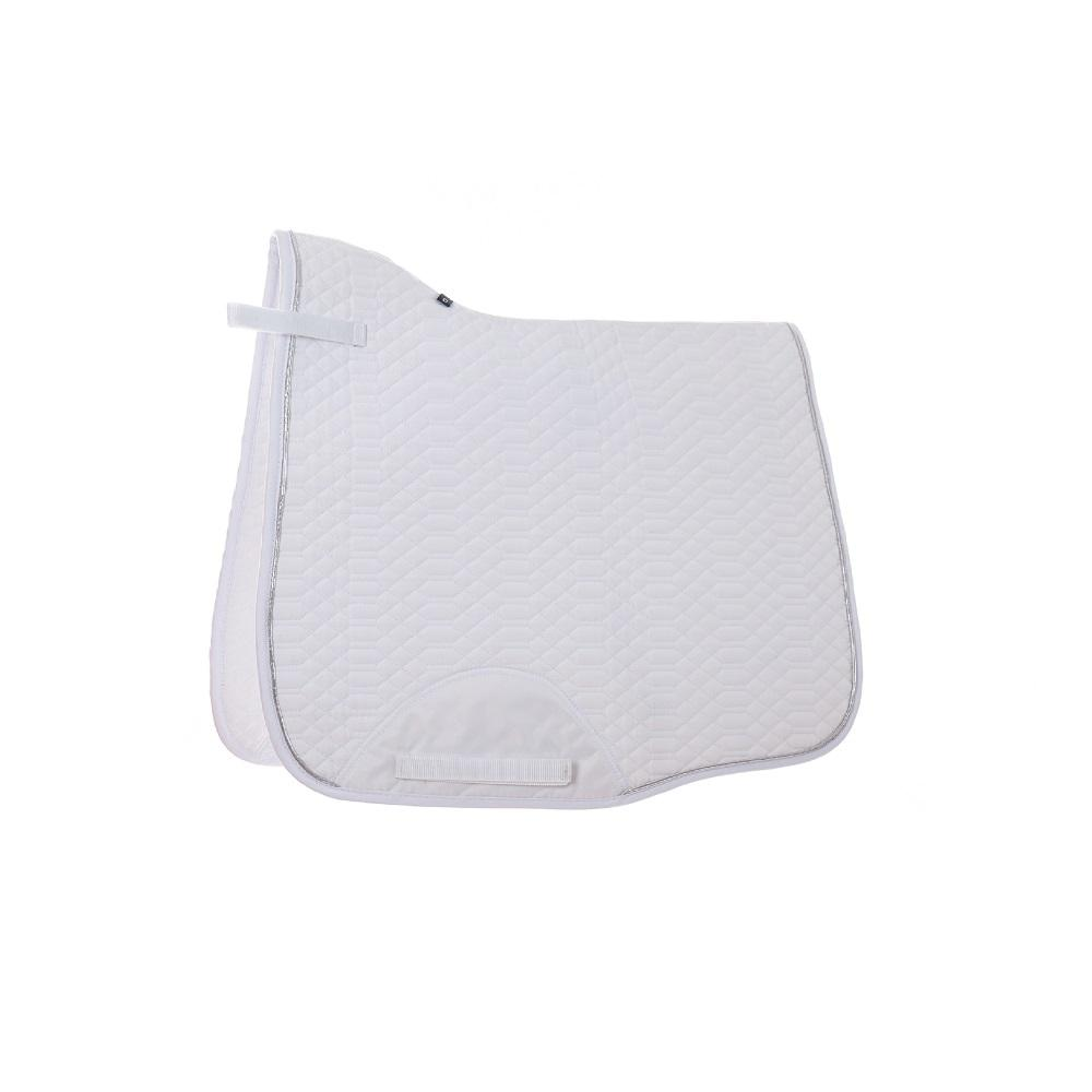 Custom Made White Quilted Cloth Saddle Pad Cheap Dressage Saddle Pad English Saddle Pad