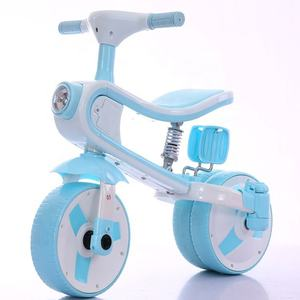 New model mini kids plastic balance bike tricycle with music and light