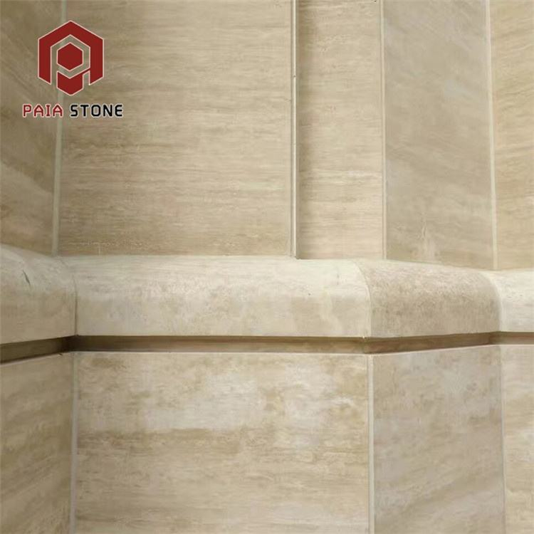 Losa <span class=keywords><strong>travertino</strong></span> beige romana de piedra natural de gran oferta al por mayor