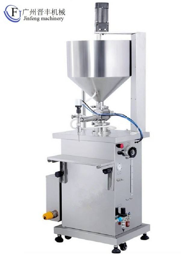 CE approved Heated hopper filling machine for UV gel Cosmetics